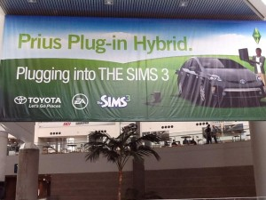 The Toyota Plug-In Prius for The Sims 3 is spotted at E3 2013.
